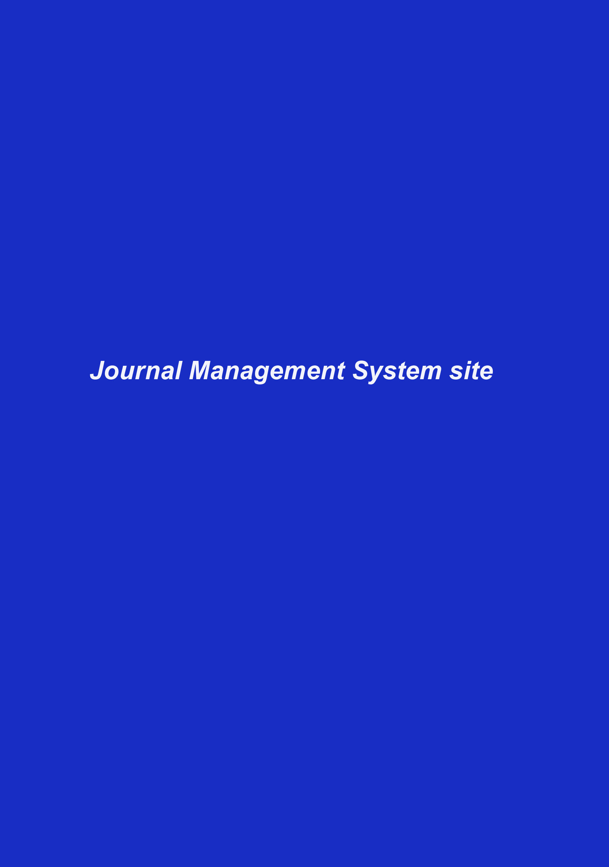 Journal Management System site